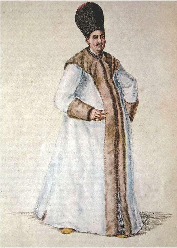 Έλληνας προεστός του 18ου αιώνα με την επίσημη στολή του, Αθήνα, Γεννάδειος Βιβλιοθήκη.