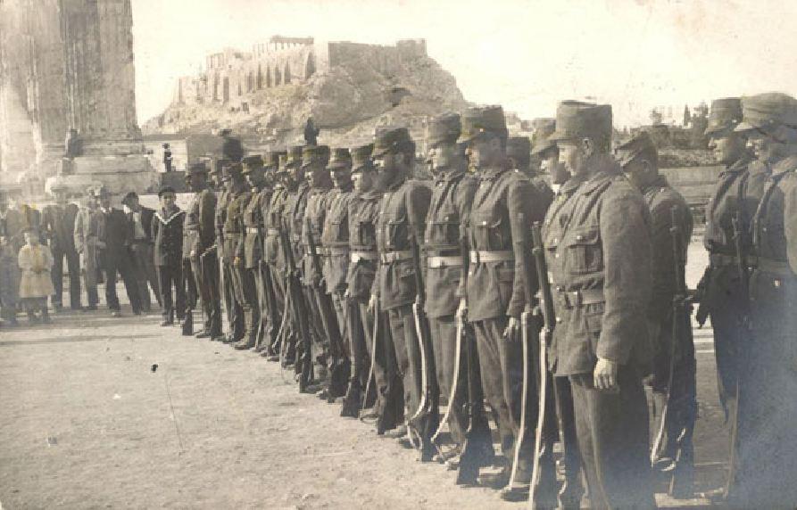 Έλληνες επίστρατοι στην Αθήνα. 1912.