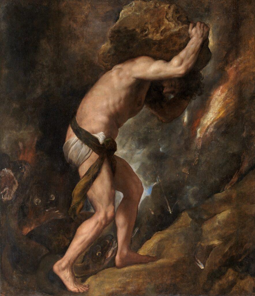 Ο Σίσυφος. 1548 by Titian.