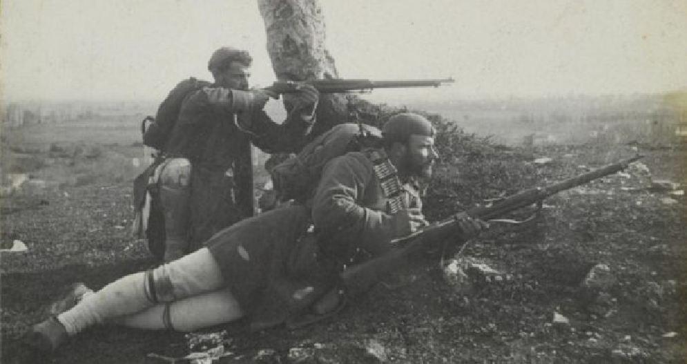 Έλληνες στρατιώτες στα 1912.