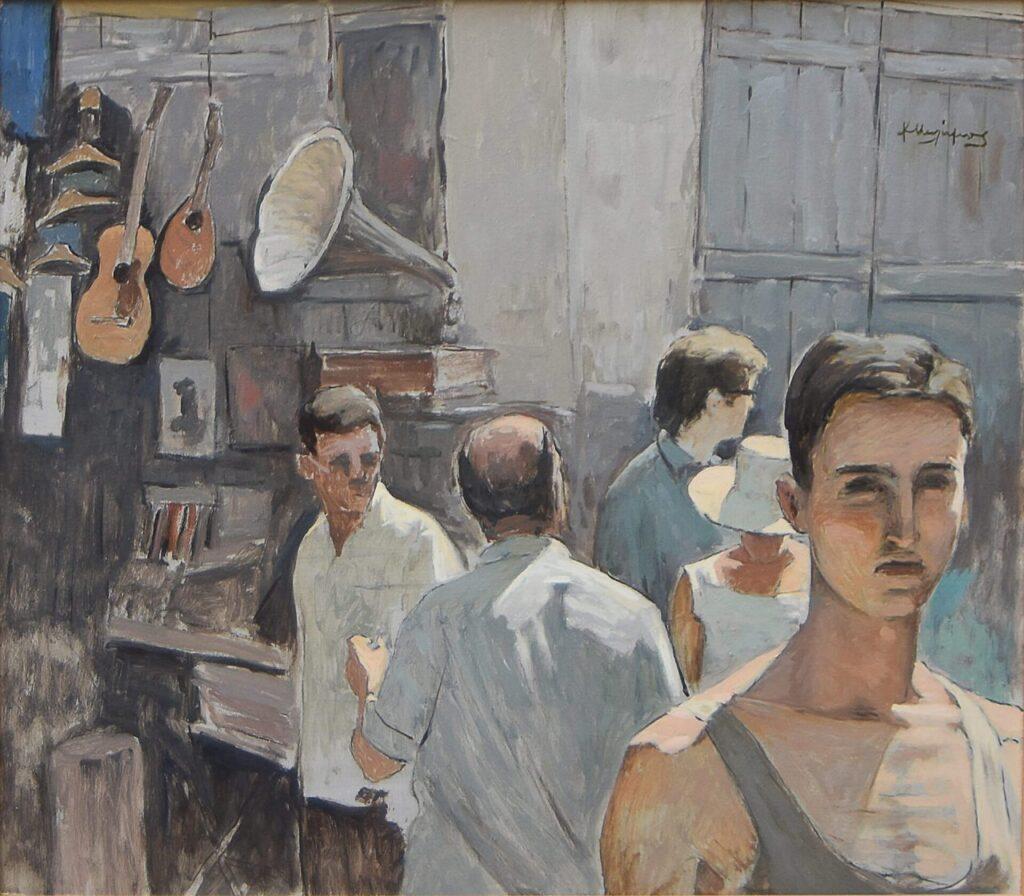 Κώστας Μαλάμος (1913 – 2007). «Κυριακή στο Μοναστηράκι.»