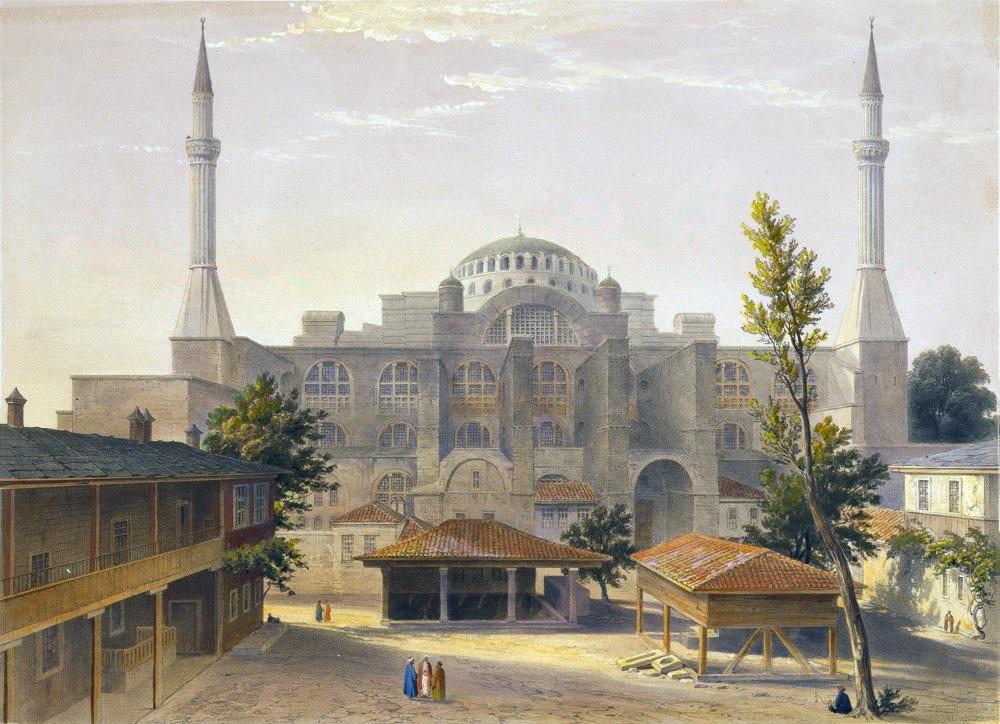 Η Αγία Σοφία στην Κωνσταντινούπολη. 1900.