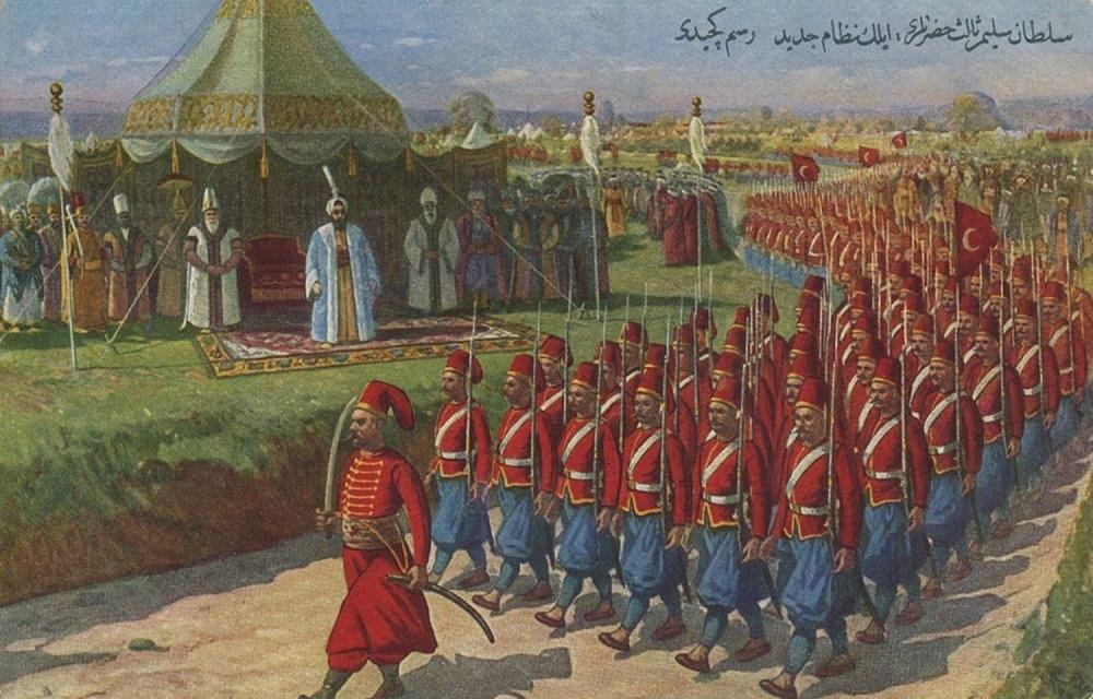 Ο Σουλτάνος Σελίμ ΙΙΙ. Παρέλαση οθωμανικού στρατού, στα τέλη του 1700.