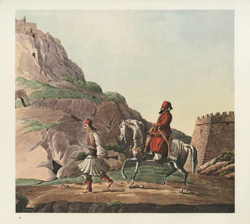 Το Ναύπλιο την περίοδο της Επανάστασης του 1821. Από το λεύκωμα του Γάλλου μηχανικού-γεωγράφου Peytier, μέλους γαλλικής επιστημονικής αποστολής (1829-1832). Ίδρυμα Λασκαρίδη.