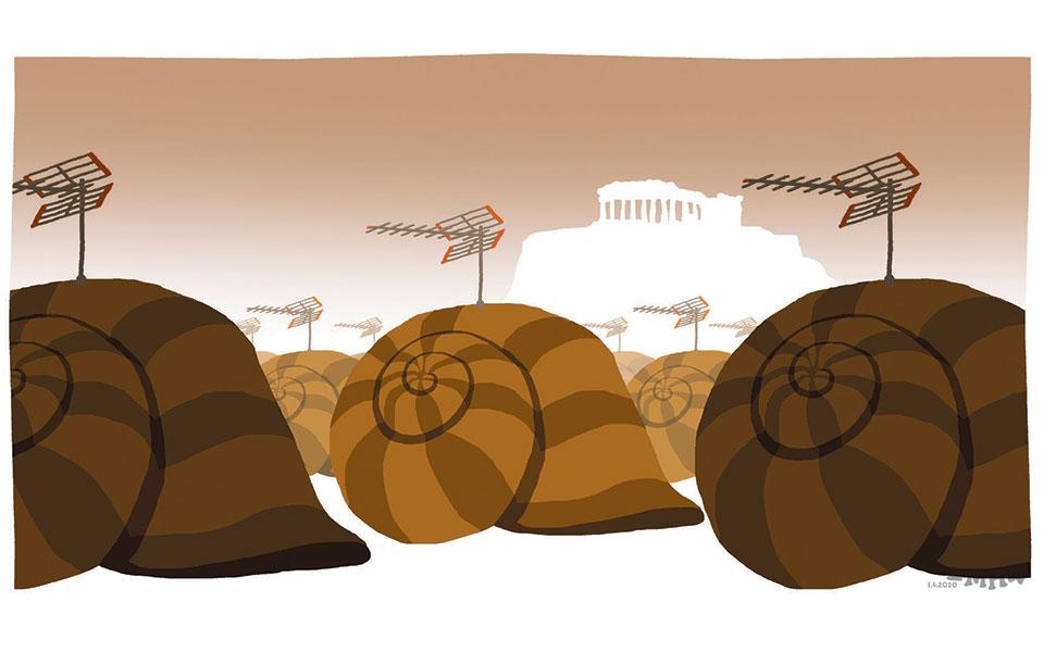 Σκίτσο του Δημήτρη Χαντζόπουλου