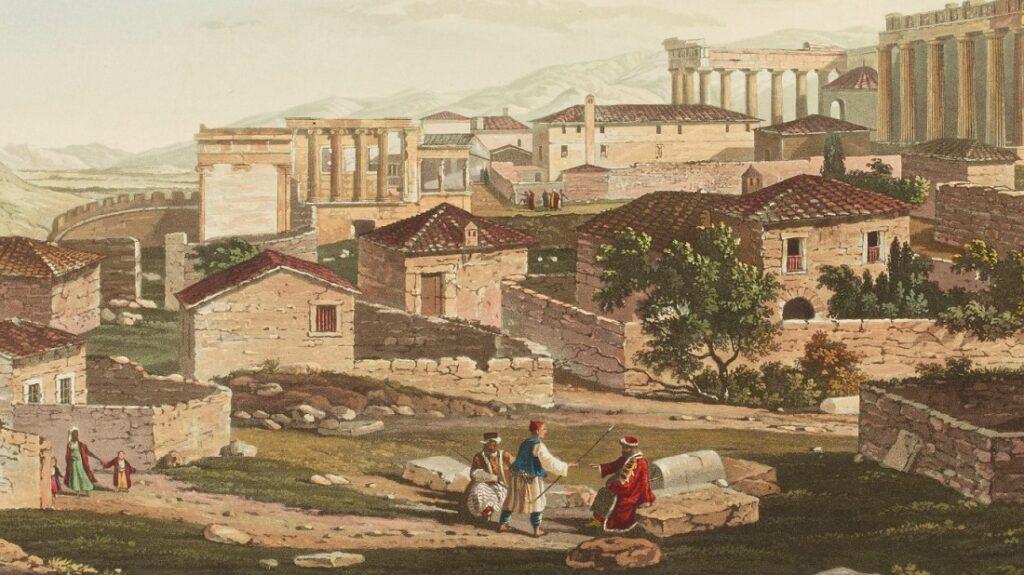 Η Αθήνα γύρω στα 1820. Πηγή: Ottoman Imperial Archives.
