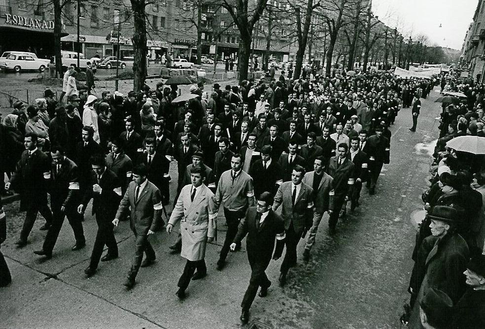 Έλληνες στη Στοκχόλμη. Περίπου στα 1962.