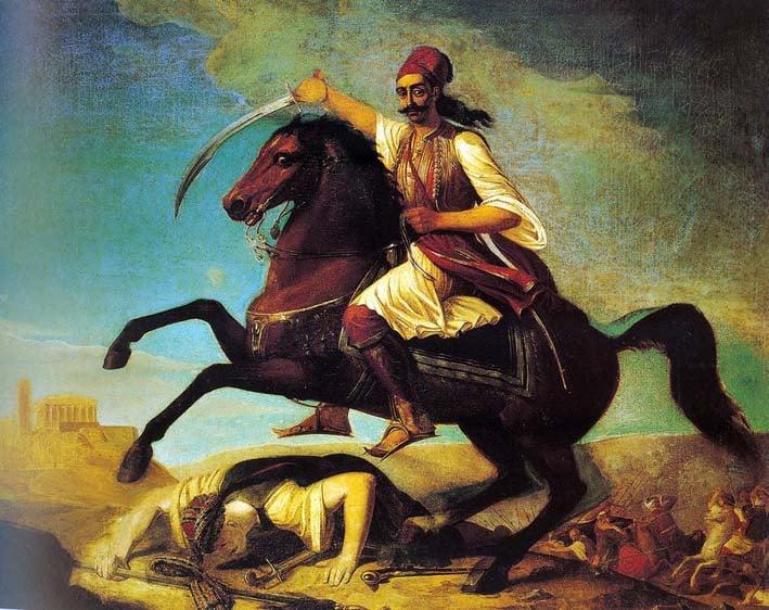 Ο Γεώργιος Καραϊσκάκης εφορμά στην Ακρόπολη· έργο του Γεωργίου Μαργαρίτη, 1844.