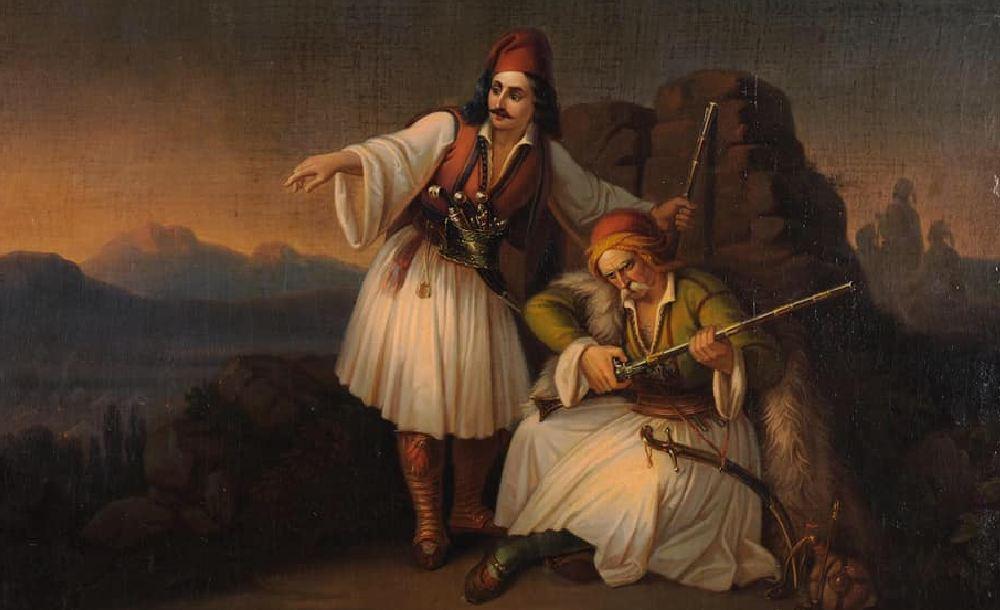 Θεόδωρος Βρυζάκης. «Δύο Πολεμιστές». 1855. Εθνική Πινακοθήκη.