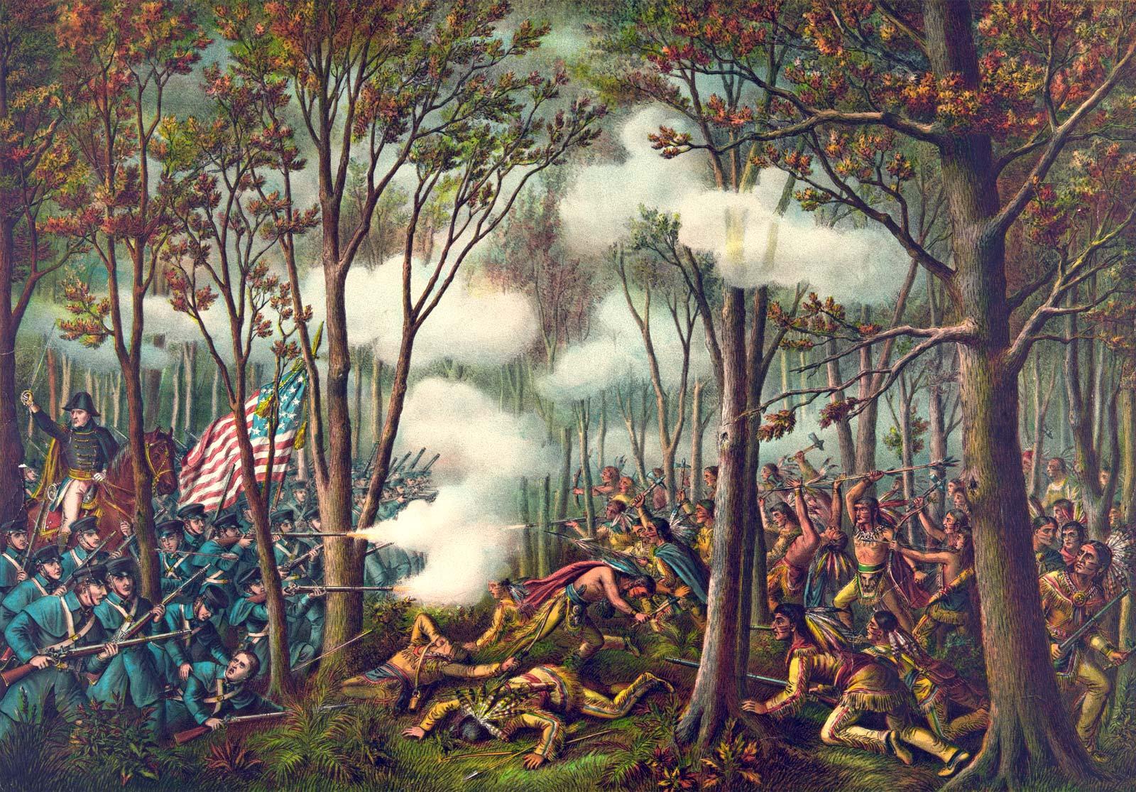 Η μάχη του Tippecanoe (1811). Battle of Tippecanoe.