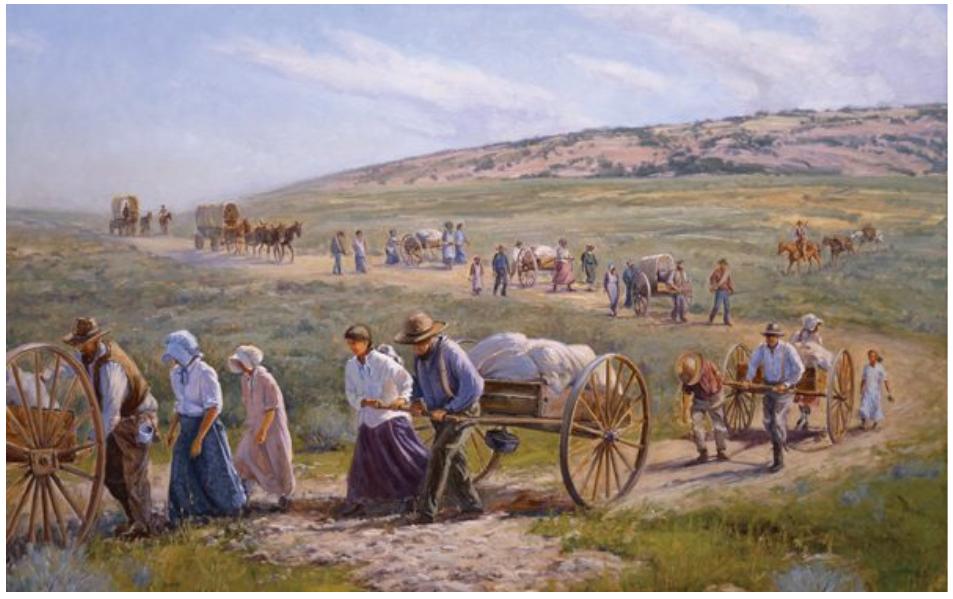 Αμερικανοί πιονέροι σε πορεία προς τα δυτικά.