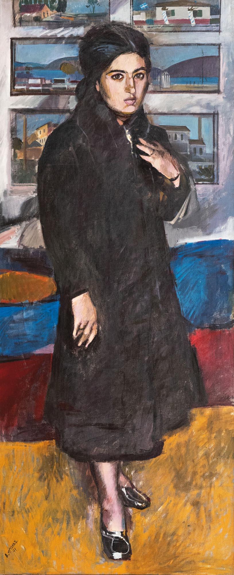 Προσωπογραφία της Κ.Θ. φιλοτεχνημένη από τον Δημήτρη Μυταρά